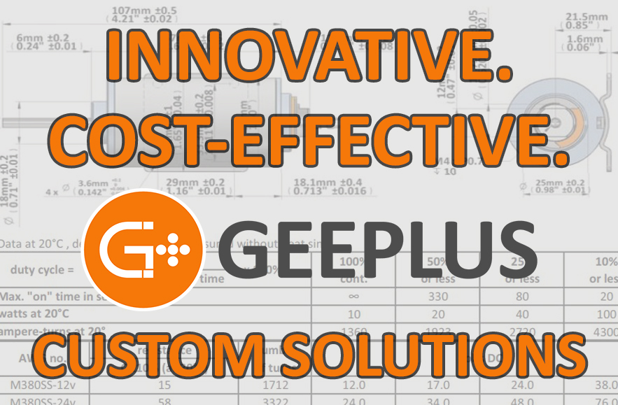 Geeplus Custom solenoid and Actuator Solutions