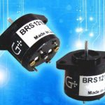 BRS1212 bistable rotary solenoid blue background