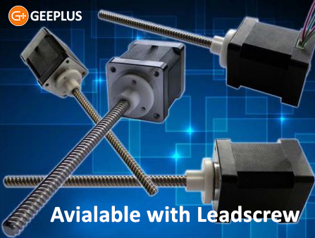Stepper Motors with lead screw from Geeplus