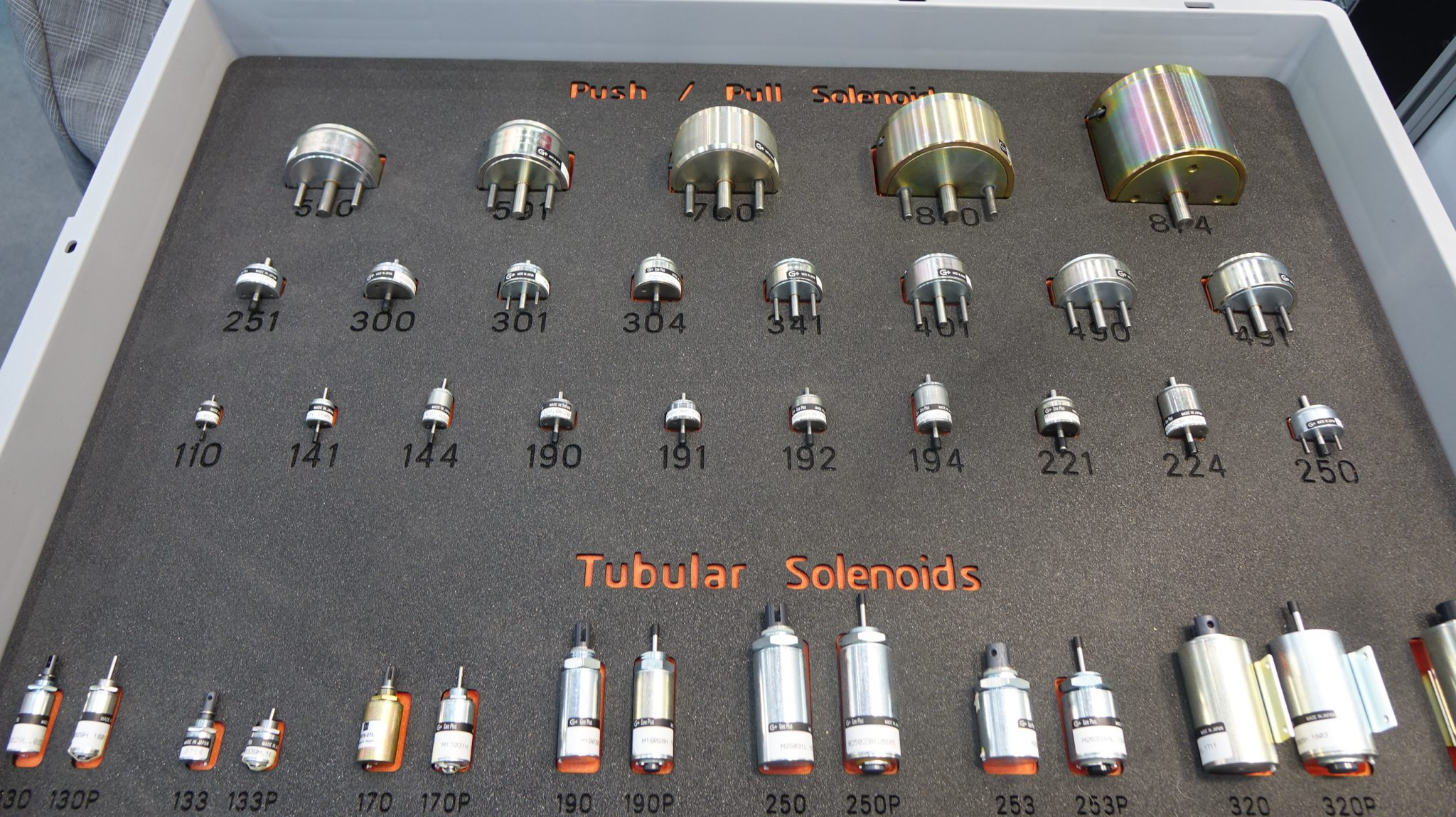 Geeplus Solenoids in Display Case