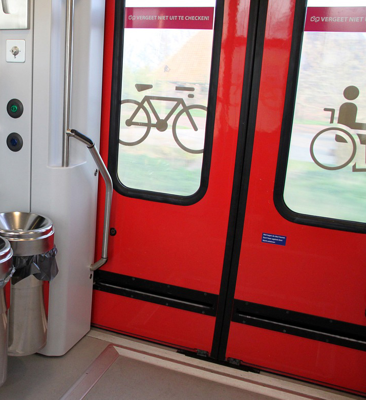 Train doors controlled by Geeplus solenoids
