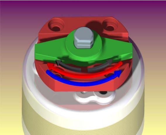 Bistable Rotary Solenoid turn mechanism