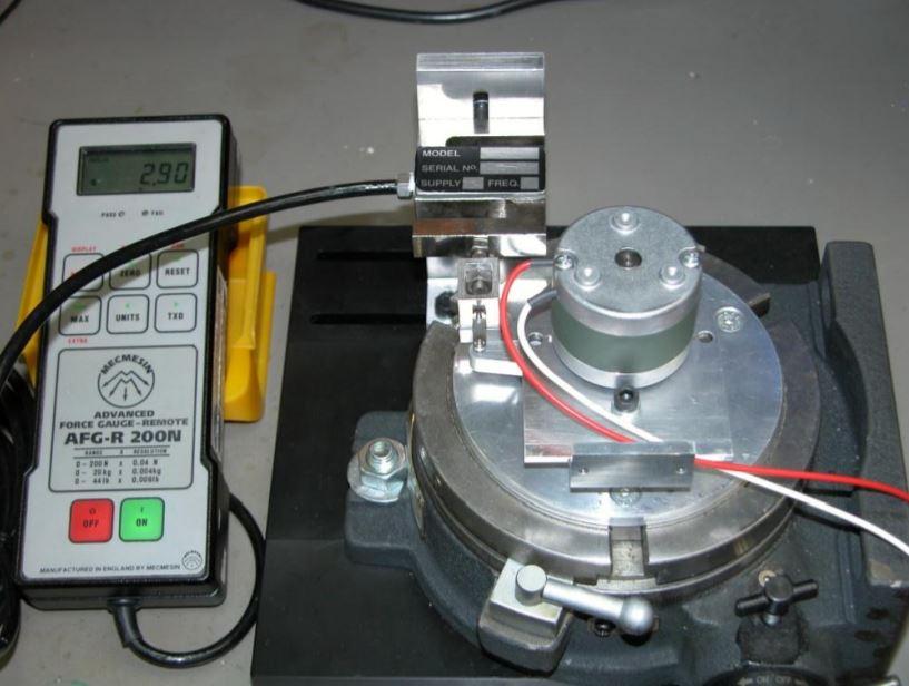 Bistable Rotary Solenoid torque measurement equipment