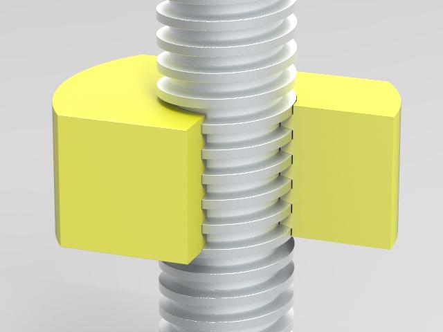 Leadscrew Actuator screw closeup