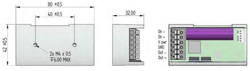 Control Circuit PHu150 dimensions