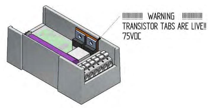 Control Circuit PHu150 transistor tabs warning
