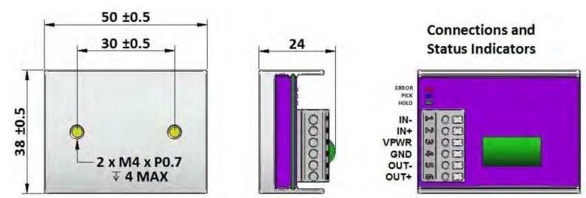 Control Circuit PHu24 Dimensions