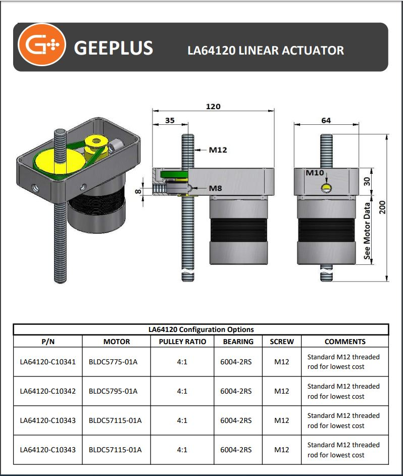 Leads[crew Actuator Data Sheet